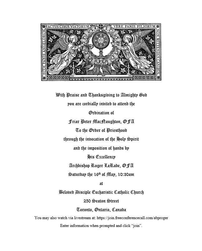 Ordination Invitation